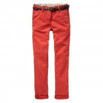Scotch R'belle Chino in rot mit Ledergürtel